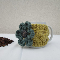 Cup Cozy, Hand Knit Coffee, Tea Cup Cozy, Mug warmer, Office gift, Valentine Day Gift, Choose Your Style and Color, Different Color Options