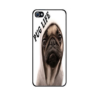 Handmade Case for iPhone 4S with Funny Pug Life design -High Quality Case and Made to Order - Fast Shipping with Tracking number from USA -