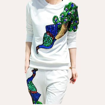 Sequin Graphic Phoenix/Peacock 2 Piece Set