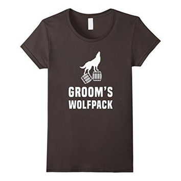 Groom's Wolfpack   Bachelor Party Drinking Team Gift T Shirt