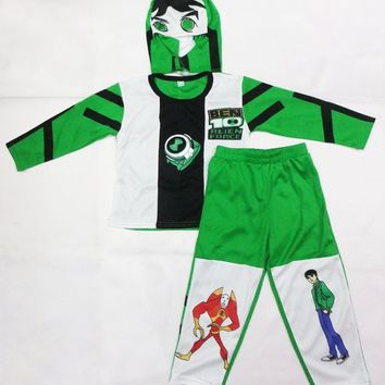 kid Cosplay Halloween Party costumes Ben 10: Race Against Time clothing,Hallowmas Boy Role-playing clothing,T-shirt size:S-XXL
