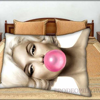 """Marilyn Monroe Bubblegum - 20 """" x 30 """" inch,Pillow Case and Pillow Cover."""