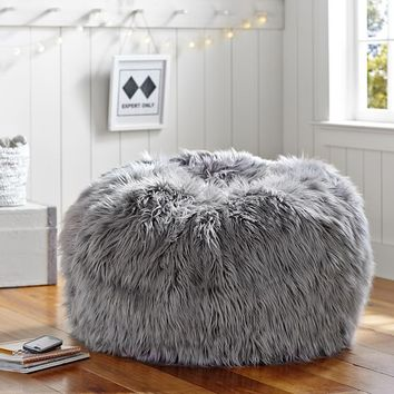 542a33a8ae Gray Fur-Rific Beanbag from PBteen