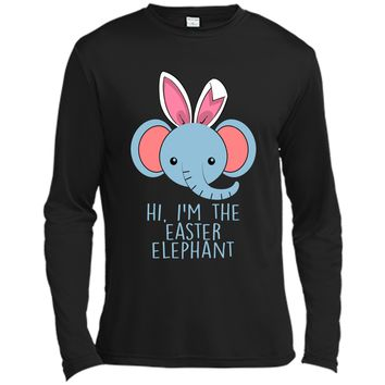 Cute and funny bunny elephant Easter bunny shirt. Long Sleeve Moisture Absorbing Shirt