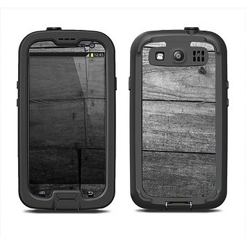The Gray Worn Wooden Planks Samsung Galaxy S3 LifeProof Fre Case Skin Set