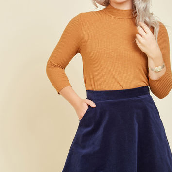 Whirl's Greatest Skirt in Navy | Mod Retro Vintage Skirts | ModCloth.com