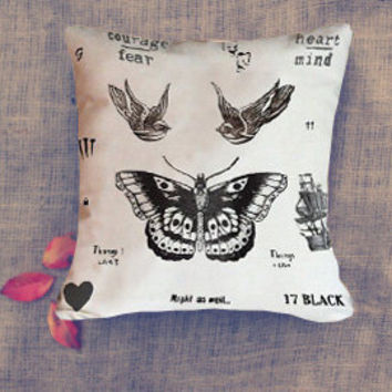 harry style one direction tattoo collage Pillow Case/ Pillow Cover/ 16 x 16/ 18 x 18/ 16 x 24/ 20 x 30/ 20 x 36