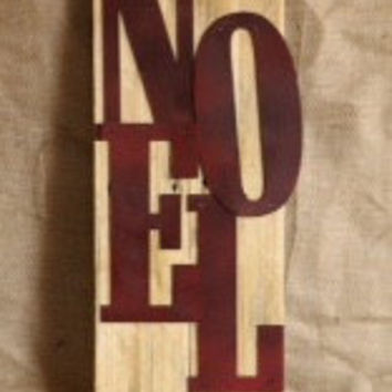Rustic Christmas Repurposed Pallet Wood Noel Signage Home Decor Corrugated Metal