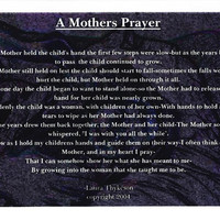 Original Mother's Day Poem, A Mothers Prayer, Gift, Birthday Present, Valentine's Day, Mother's Day, Birthday, Daughter