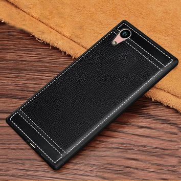 For Sony Xperia XA F3111 Dual F3112 Case Luxury PU Leather Grain Soft TPU Back Cover For Sony Xperia XA Ultra C6 F3211 F3212