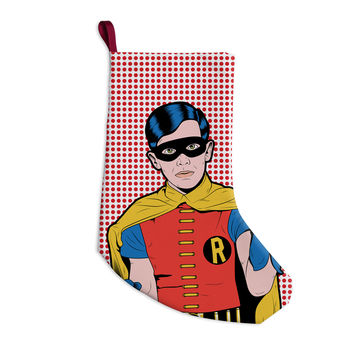 "Roberlan ""The Boy Wonder Pop"" Robin Christmas Stocking"
