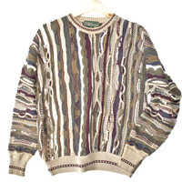 Textured Multicolored Cosby Style Ugly Sweater - The Ugly Sweater Shop