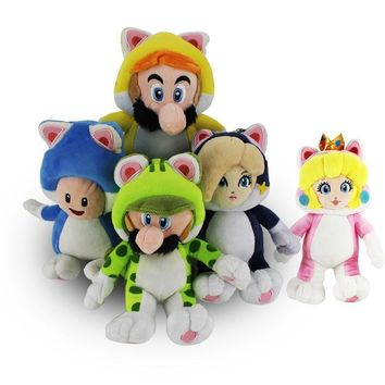 Super Mario party nes switch 5styles  Cat  Luigi Toad Princess Peach Rosalina Stuffed Animals Plush Toy   AT_80_8