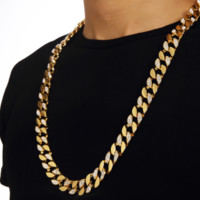 Jewelry New Arrival Stylish Shiny Gift Hip-hop Accessory Rhinestone Chain Necklace [10529029891]