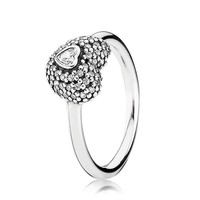 PANDORA In My Heart Clear Cubic Zirconia Ring