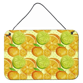 Watercolor Limes and Oranges Citrus Wall or Door Hanging Prints BB7517DS812
