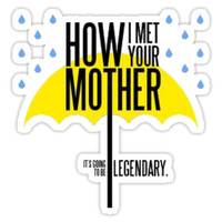 'How I Met Your Mother' Sticker by Caro Owens Designs