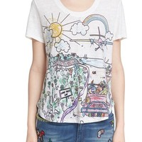 Mira Mikati 'Road Trip' Graphic Linen Tee | Nordstrom