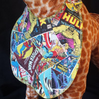 Marvel Comic Character Print Bib - Toddler size *Wider Size*