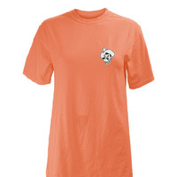 Oklahoma State Cowboys Womens Orange Antoinette Short Sleeve Unisex Tee