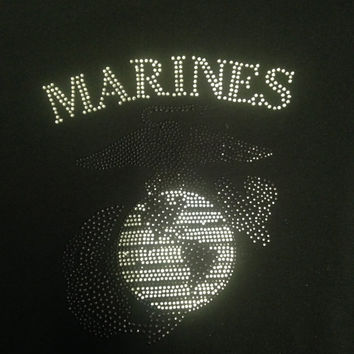 Marines Rhinestone Tank Top/Shirts/Sweatshirts (Customizable)