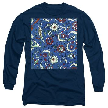An Ottoman Iznik Style Floral Design Pottery Polychrome, By Adam Asar, No 15a - Long Sleeve T-Shirt