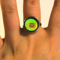 VTG 90s Hologram EYE Ring
