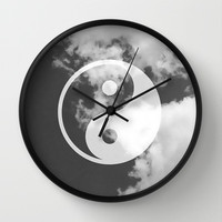 Black & White & Peace Wall Clock by Pink Berry Pattern | Society6