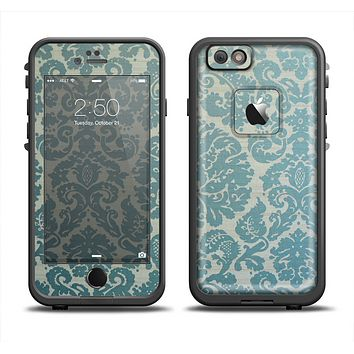 The Subtle Green Lace Pattern Apple iPhone 6 LifeProof Fre Case Skin Set
