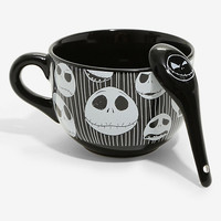 The Nightmare Before Christmas Jack Head Soup Mug & Spoon