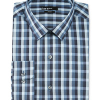 Bar III Slim-Fit Light Blue Multi-Gingham Dress Shirt