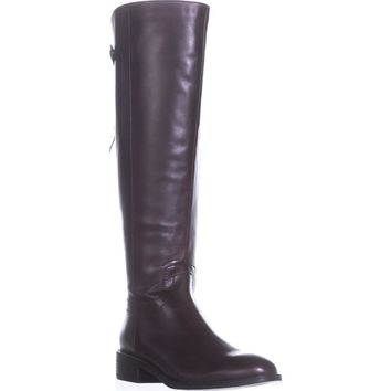 Franco Sarto Brindley Wide Calf Riding Boots, Burgundy, 8.5 US / 38.5 EU