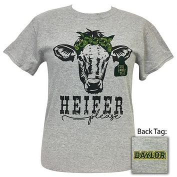 Texas Baylor Bears Preppy Heifer Please Cow T-Shirt