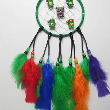 Teenage Mutant Ninja Turtles Dream Catcher, Green TMNT featuring Turtles and Splinter
