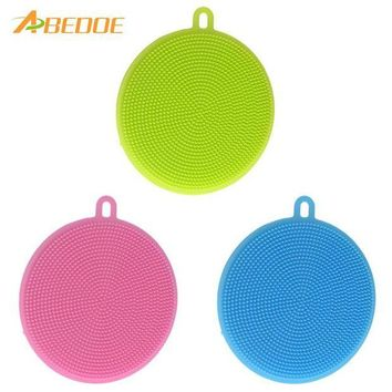 DCCKU7Q ABEDOE Food-grade Antibacterial Dishwashing Dish Brush Sponge Towel Scrubber For Kitchen Pot Pan Dish Bowl Fruit Vegetable