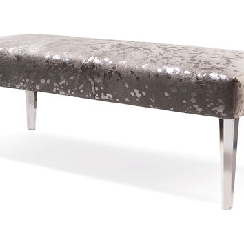 "Phoenix 52"" Bench, Silver, Acrylic / Lucite, Bedroom Bench"