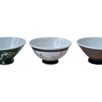 Antique Japanese Bowls, S/3