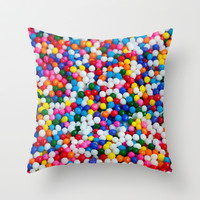 Round Sprinkles Throw Pillow by LGD.