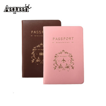 1pc Fashion New Passport Holder Documents Bag Sweet Travel Passport Cover ID Card Case Pink/Coffee
