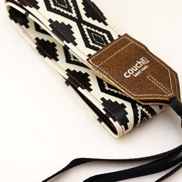 Native American Navajo Style Camera Strap by couchguitarstraps