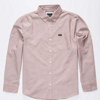 Rvca That'll Do Oxford Boys Shirt Red  In Sizes