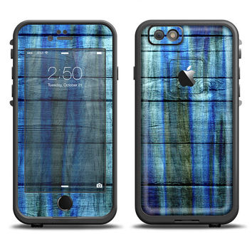 The Grungy Dark Blue Washed Wood LifeProof Case Skin (Other LifeProof Models Available!)