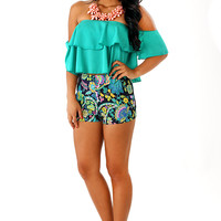 Thinking Simply Top: Tropical Green