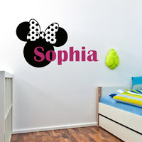 Girls Name Wall Decal- Personalized Name Wall Decal- Baby Name Decal- Nursery Name Decal- Kids Baby Nursery Girls Room Playroom Decor 0092