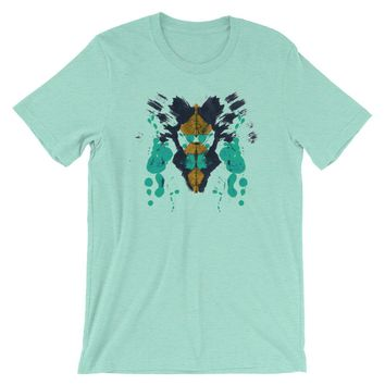 Ink Blot Psychology T-shirt Rorschach Test Science Abstract Art Creative Tee