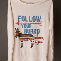 "Gina ""Follow Your Burro"" Long Sleeve Tee"
