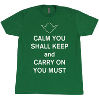 Star Wars Yoda Keep Calm And Carry On  Logo by PopCulturePassion