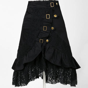 women party skirt lace black steampunk street clubwear gypsy unique design = 1947007364