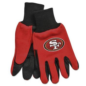 San Francisco 49ers Two Tone Gloves - Adult