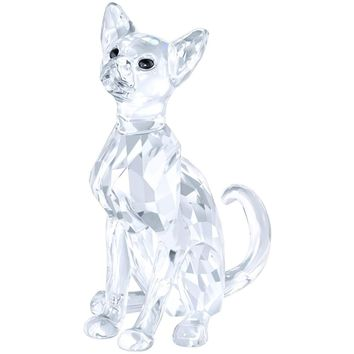 Swarovski Crystal Animal Figurine SIAMESE CAT, Clear- 5135918